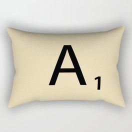 Scrabble Piece A1 Rectangular Pillow
