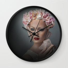 Flower Chid Wall Clock