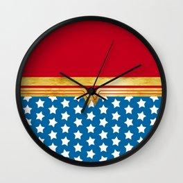 Wonderwoman Super Hero Inspired Wall Clock