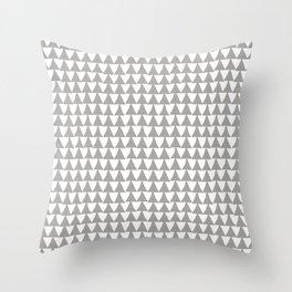 Triangle Arrow Pattern: Grey Throw Pillow
