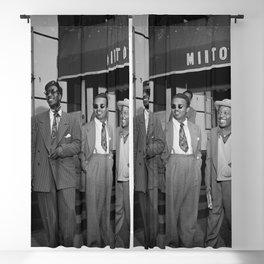 Thelonious Monk, Howard McGhee, Roy Eldridge, and Teddy Hill, Minton's Playhouse, 1947 photography - photograph Blackout Curtain