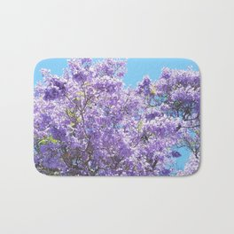 Jacaranda in bloom Bath Mat