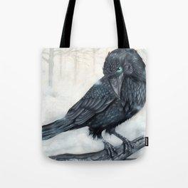 El ve a través del cuervo y controla la niebla Tote Bag