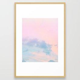 Pastel Sky Dream #1 #decor #art #society6 Framed Art Print