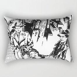 """Film Noir"" - by Fanitsa Petrou Rectangular Pillow"