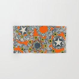 cirque fleur orange stone star Hand & Bath Towel