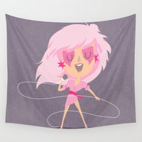 jem Wall Tapestries featuring Jem by Rod Perich