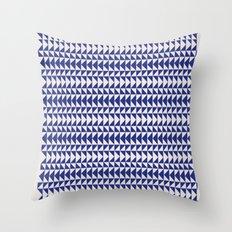 Blue Folk Art Throw Pillow