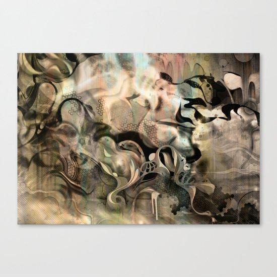 Fluidity Noir Canvas Print