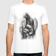 Hand of Freedom MEDIUM White Mens Fitted Tee