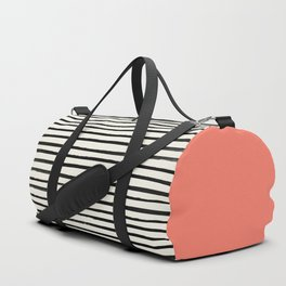 Coral x Stripes Duffle Bag