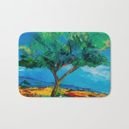 Lonely Olive Tree Bath Mat