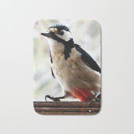 visit in winter Bath Mat