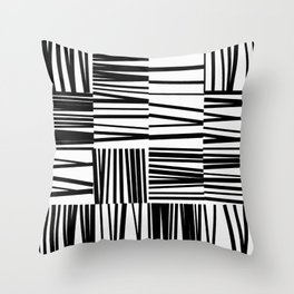 Random Line Tiles 1 Throw Pillow