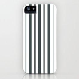 PPG Night Watch Pewter Green & White Wide & Narrow Vertical Lines Stripe Pattern iPhone Case