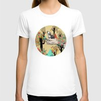 wolf T-shirts featuring Found You There  by Sandra Dieckmann