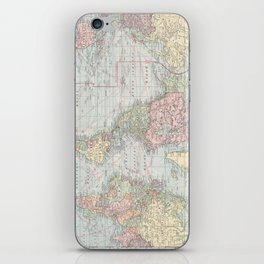 Vintage World Map (1901) iPhone Skin