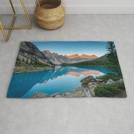 Rocky Mountain Sunrise Moraine Lake Banff National Park Canada Rug