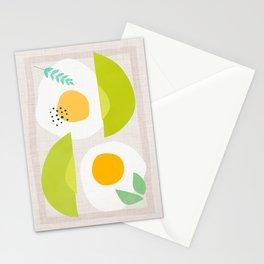 Minimalist Avocado and Eggs Stationery Cards