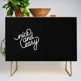 nice and easy   [black & white] Credenza