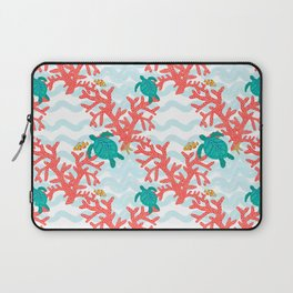 Clowning Around With Sea Turtles on The Reef Laptop Sleeve