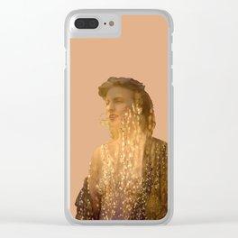 Golden Summer Clear iPhone Case