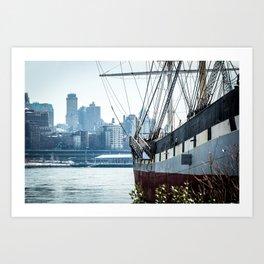 Boat of New York Art Print