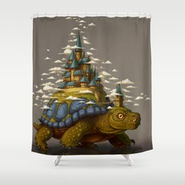 Walking Cities of Bas Shower Curtain
