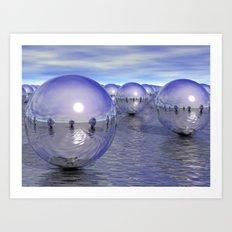 Spheres On The Water Art Print