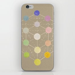 Colour cube (white point) from the Manual of the science of colour by W. Benson, 1871, Remake, vinta iPhone Skin