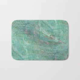 Mossy Woods Green Marble Bath Mat
