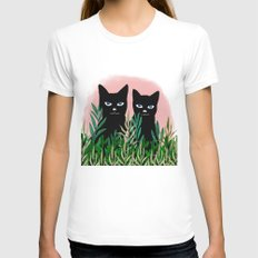 CATS Womens Fitted Tee SMALL White