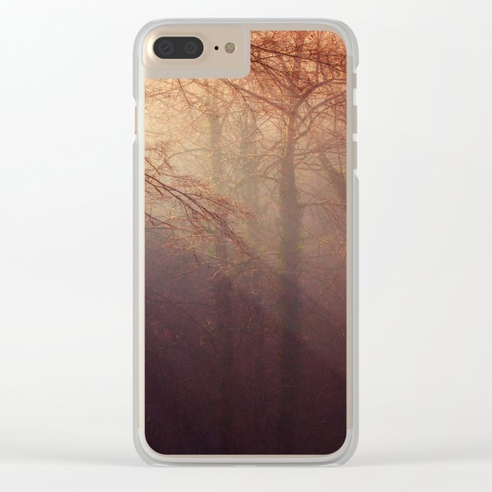 fall forest Clear iPhone Case