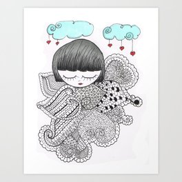 Z-TANGO GIRL Art Print