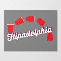 "always sunny Canvas Prints featuring It's Always Sunny ""Flipadelphia"" by Lindsay Schoen"