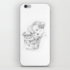Vintage pug iPhone & iPod Skin