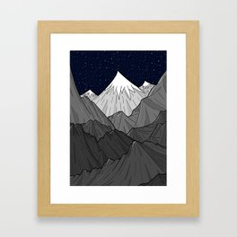 The Dark Grey Mountains Framed Art Print
