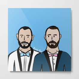 Beard Boy: Albert & Lucho Metal Print
