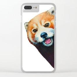 Panda Selfie Clear iPhone Case
