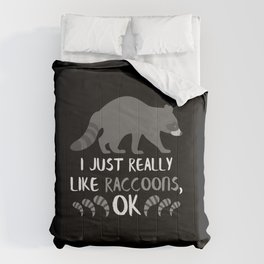 Raccoon Animal Gifts Funny Raccoon Lovers Gifts Comforters