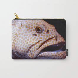 Coral Grouper Being Cleaned Carry-All Pouch