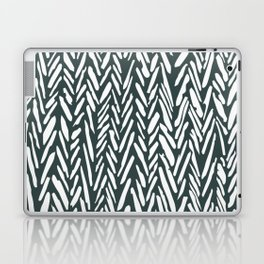 Dark green herringbone pattern Laptop & iPad Skin