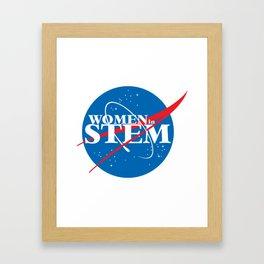 Women in STEM Framed Art Print