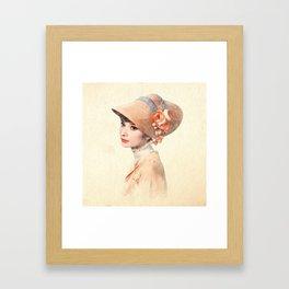 Audrey Hepburn - Eliza Doolittle - Watercolor Framed Art Print