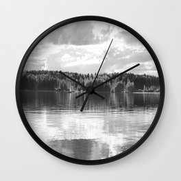 Reflections On A Lake #decor #society6 Wall Clock