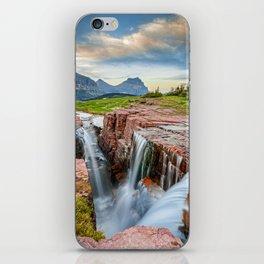 Triple Falls Glacier National Park Montana Waterfall Landscape iPhone Skin