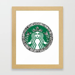 Starbucks T-Shirt Framed Art Print