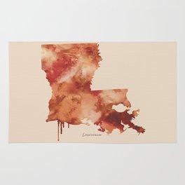 Louisiana Watercolor State Rug