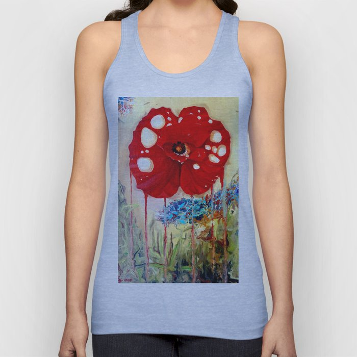 Poppy Painting Unisex Tank Top