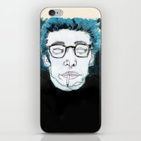 james franco iPhone & iPod Skins featuring James is King by Rebecca Span